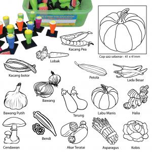 COP SAYUR-SAYURAN (15 PCS) - ITS Educational Supplies Sdn Bhd