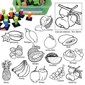 COP BUAH-BUAHAN TEMPATAN (14 PCS) - ITS Educational Supplies