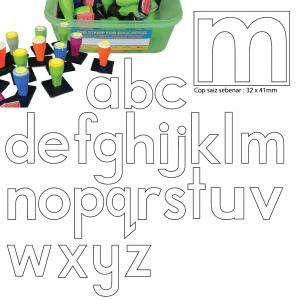 COP HURUF KECIL abc (RANGKA) (26 PCS) - ITS Educational Supplies