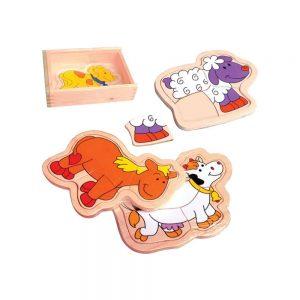 WOODEN PUZZLES BOX (1 BOX 4 PCS) - ITS Educational Supplies Sdn Bhd