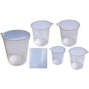 PLASTIC MEASURING BEAKERS (5 PCS) - ITS Educational Supplies