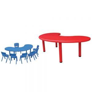 HALF MOON PLASTIC TABLE - ITS Educational Supplies Sdn Bhd