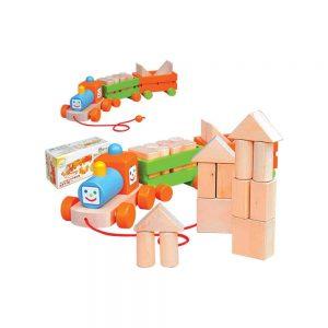 WOODEN TRAIN BLOCKS (1 BOX 17 PCS) - ITS Educational Supplies