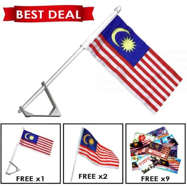 [MERDEKA PROMO] CAR FLAG - ITS Educational Supplies Sdn Bhd