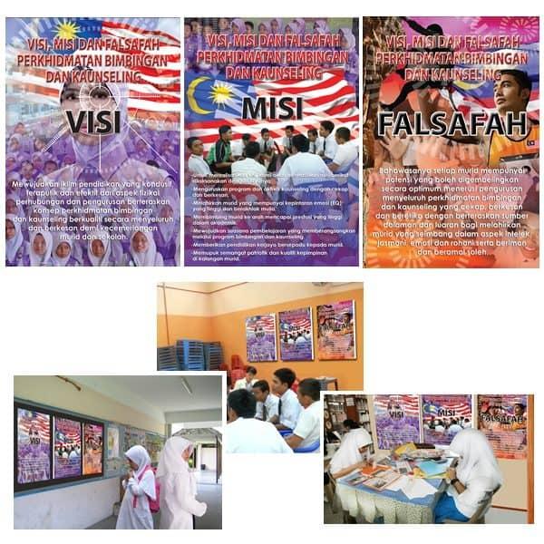 POSTER PERKHIDMATAN BIMBINGAN & KAUNSELING (VISI,MISI DAN FALSAFAH) - ITS Educational Supplies Sdn Bhd